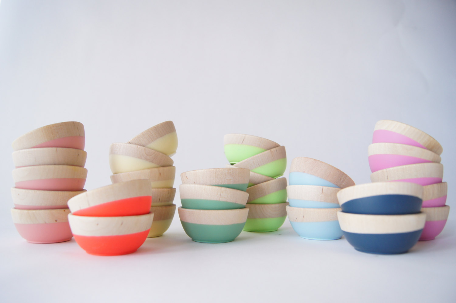 dipped wooden bowls