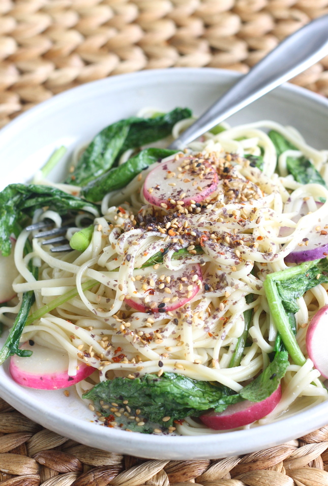 Udon Noodles with Sweet Miso Sauce recipe by SeasonWithSpice.com