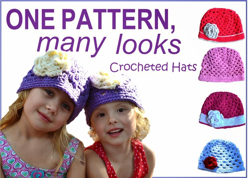 Crocheted Spring Hats for Girls