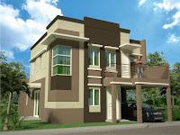 Diseño de casa en 3D color café
