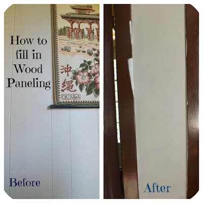 Confessions of an add english teacher how to fill in wood How to disguise wood paneling