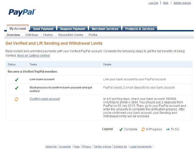 paypal bank verification [Techzilla Firefox]