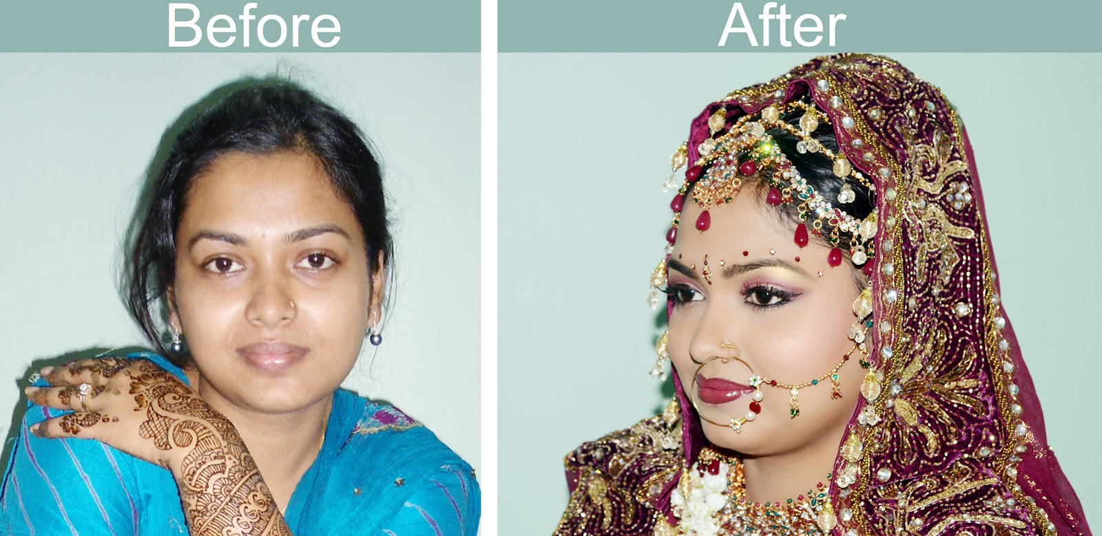 Bridal Makeup Pictures Before And After : Image Wedding Makeup Before And After Download
