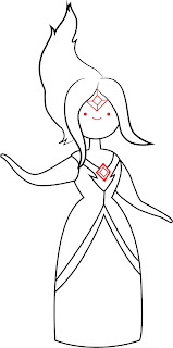 How To Draw Flame Princess Step 6