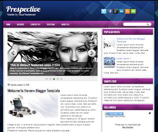 Prespective+Blogger+Template