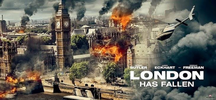 Explosões e caos assolam a capital do Reino Unido nos pôsteres de Invasão à Londres