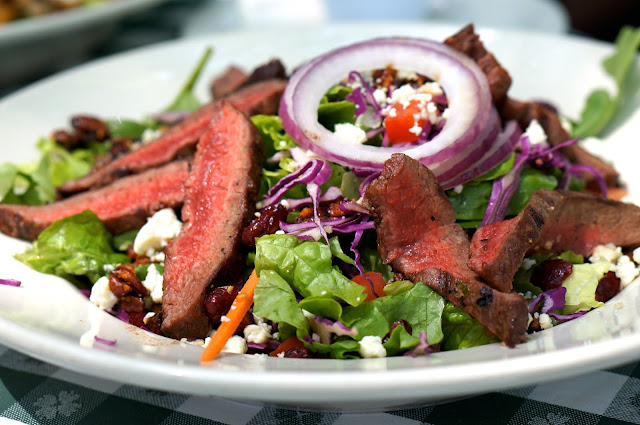 SHADY GROVE, FLAT IRON STEAK SALAD, AUSTIN TEXAS