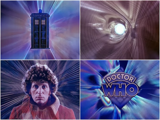 John Nathan-Turner didn't like how these opening titles looked like a trip through a vacuum cleaner tube. I think he was confusing 'vacuum cleaner tube' with 'colonoscopy video.'