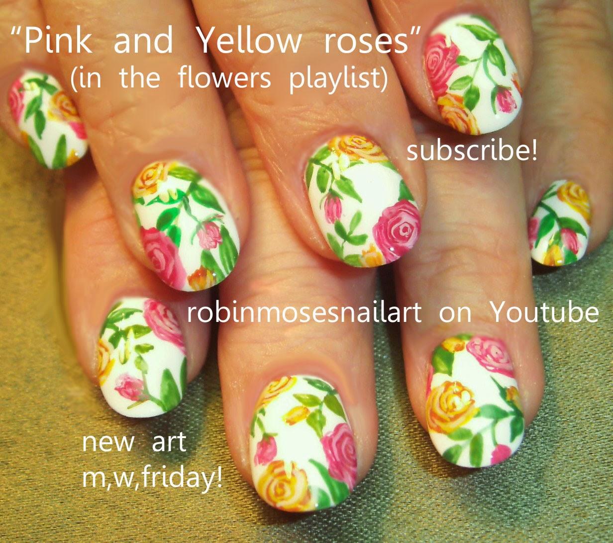 Robin moses nail art rose nail art nail art nails red rose nail art ideas prinsesfo Choice Image