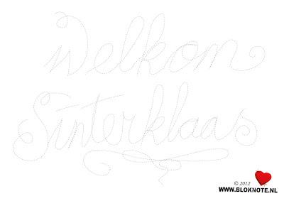 Freebie Kinderknutselen Printable Sinterklaas Welkomstbordje Bloknote