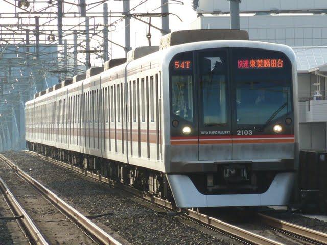 東京メトロ東西線 快速 東葉勝田台行き6 東葉高速鉄道2000系