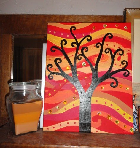 Cool art projects for your room we made two seperate projects - Art projects for your room ...
