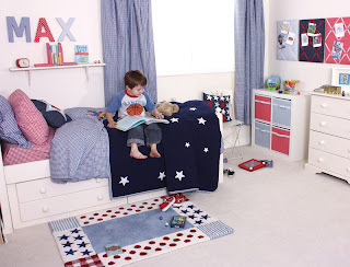 Babyface Gingham Boy's Bedding - Navy Gingham