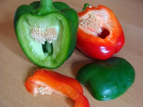 Green Red Bell Pepper