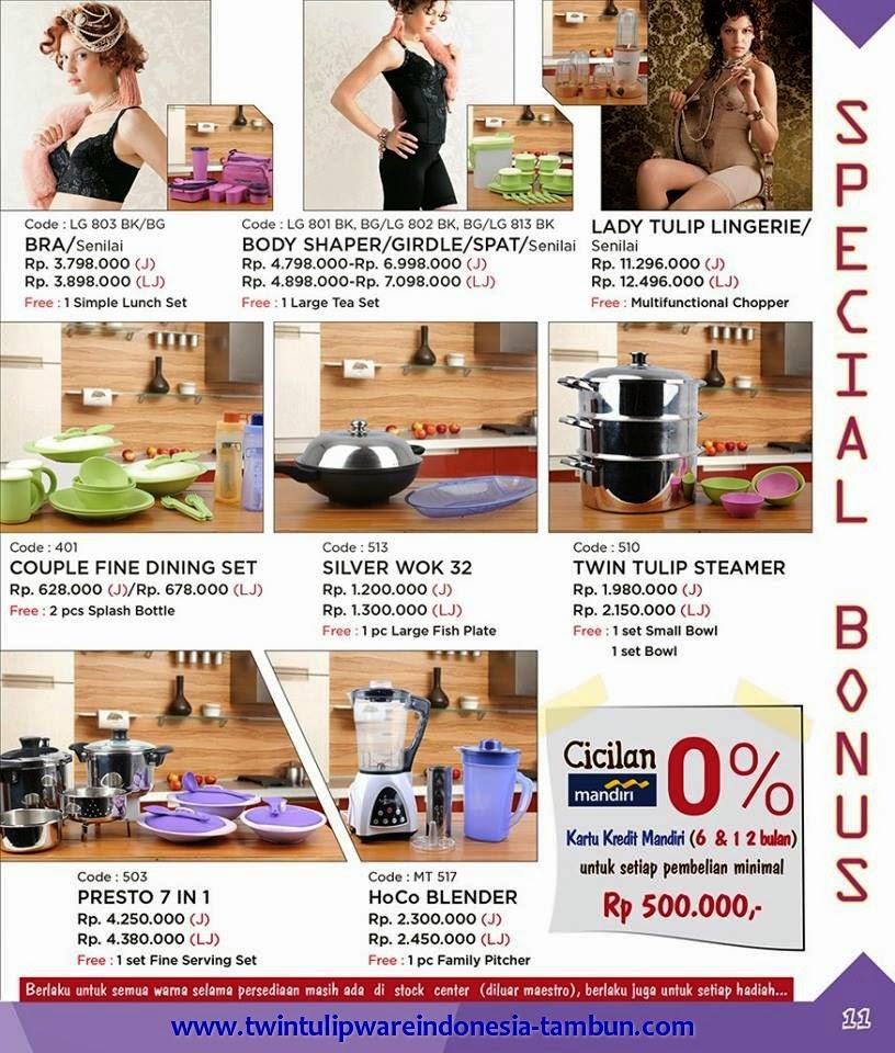 Promo Twin Tulipware Januari - Februari 2015 ~ Special Bonus