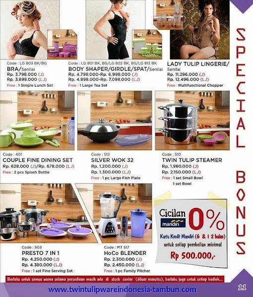Promo Special Bonus Tulipware | Januari - Februari 2015