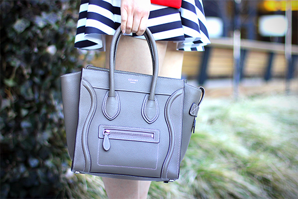Celine Souris Grey Micro Luggage Bag