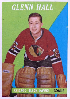 glenn hall chicago blackhawks topps hockey card
