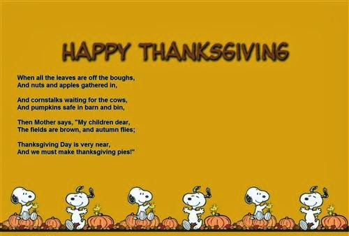 Famous Funny Thanksgiving Poems For Children