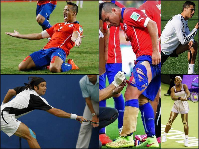 Taping en deportistas de élite como Alexis Sánchez, Fernando González, Gary Medel, Cristiano Ronaldo y Serena Williams