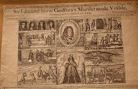 18th century newspaper about Sir Edmund Berry Godfrey