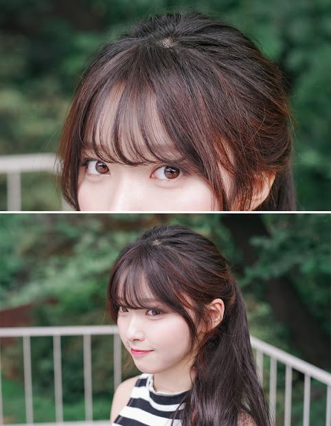 korean bangs thin version shiny