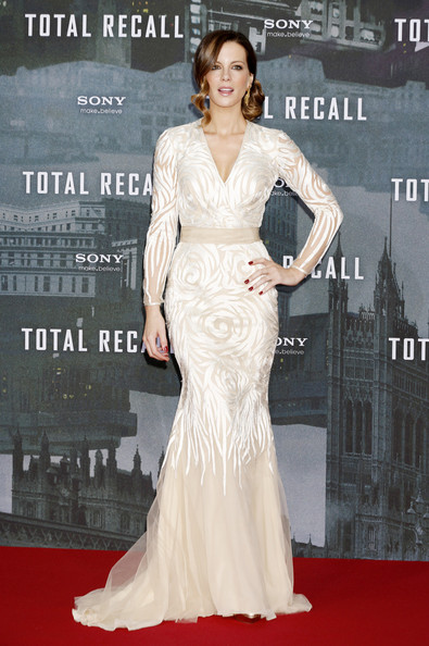 Kate Beckinsale at the Berlin premiere of her movie, 'Total Recall', held at the Sony Center in Berlin, Germany