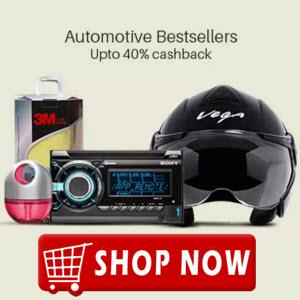 Paytm :  Automative Bestsellers at Extra upto 40% Cashback