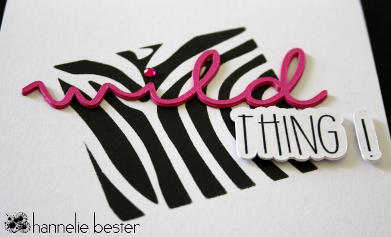 wild thing zebra print card