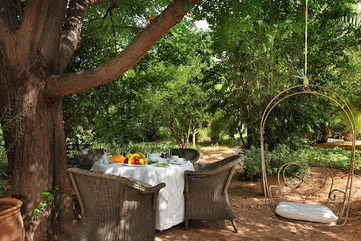 Cooking classes then tasting in the garden of Hotel Les Deux Tours Marrakech