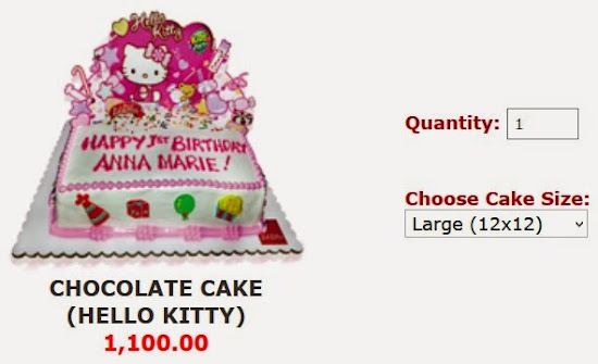 Large-sized Hello Kitty Cake for Jollibee party