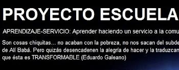 BLOG DEL PROYECTO ESCUELA ESPACIO DE PAZ