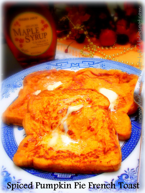 Spiced Pumpkin Pie French Toast ~ Super simple to make and super tasty ...