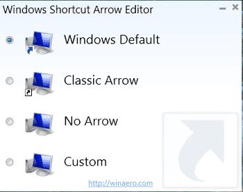 Merubah dan mengganti tanda panah pada icon desktop