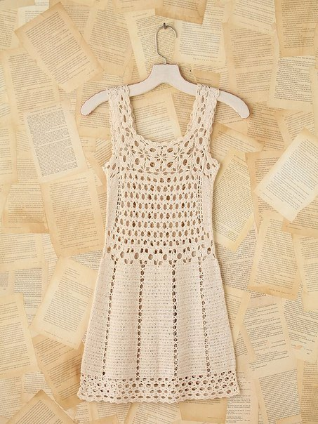 Crochet Patterns For Dresses : Crochet Patterns to Try: Crochet Free People Vintage Mini ...