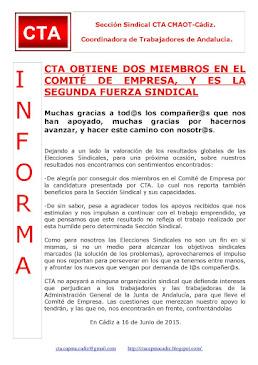 CTA OBTIENE DOS MIEMBROS EN EL COMITÉ DE EMPRESA DE LA CONSEJERÍA DE MEDIO AMBIENTE Y ORDENACIÓN DE