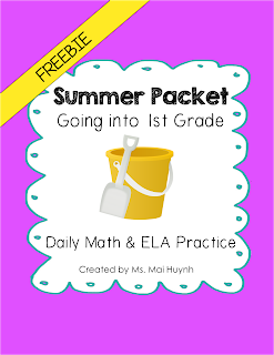 https://www.teacherspayteachers.com/Product/Freebie-Summer-Packet-Going-into-1st-Grade-1854301