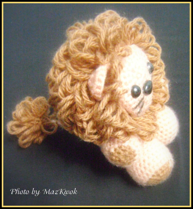 Amigurumi Lion Free : The little lion