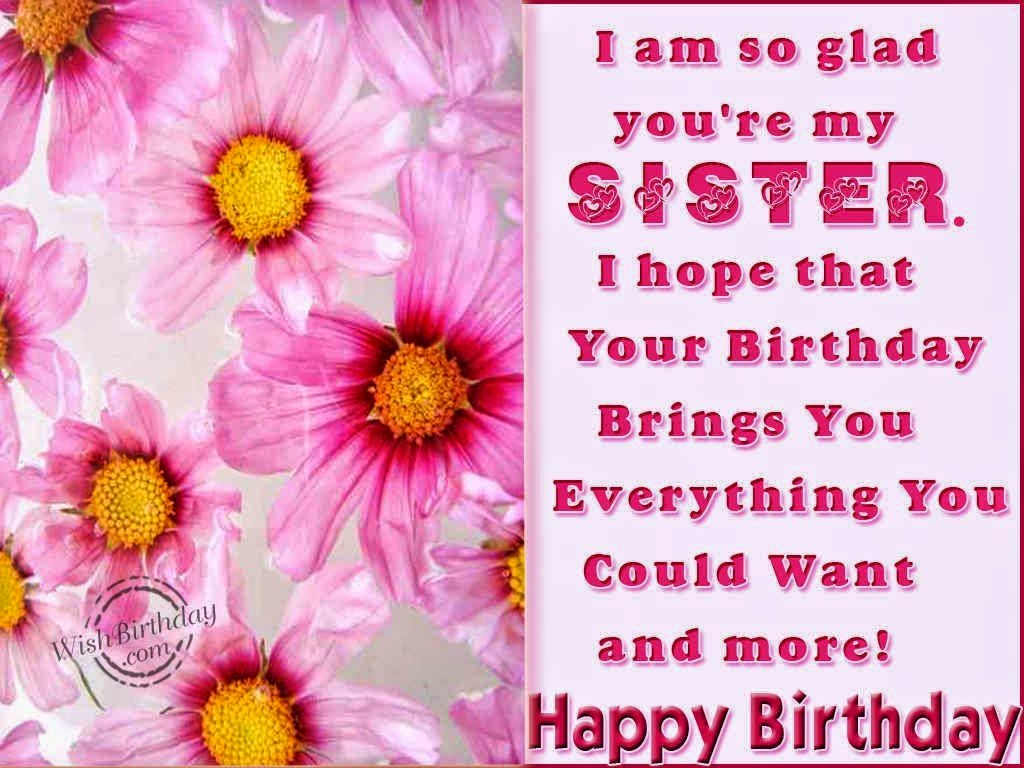 Happy birthday sister best happy birthday sister greetings photo m4hsunfo