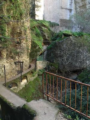 Below the Puente Nuevo