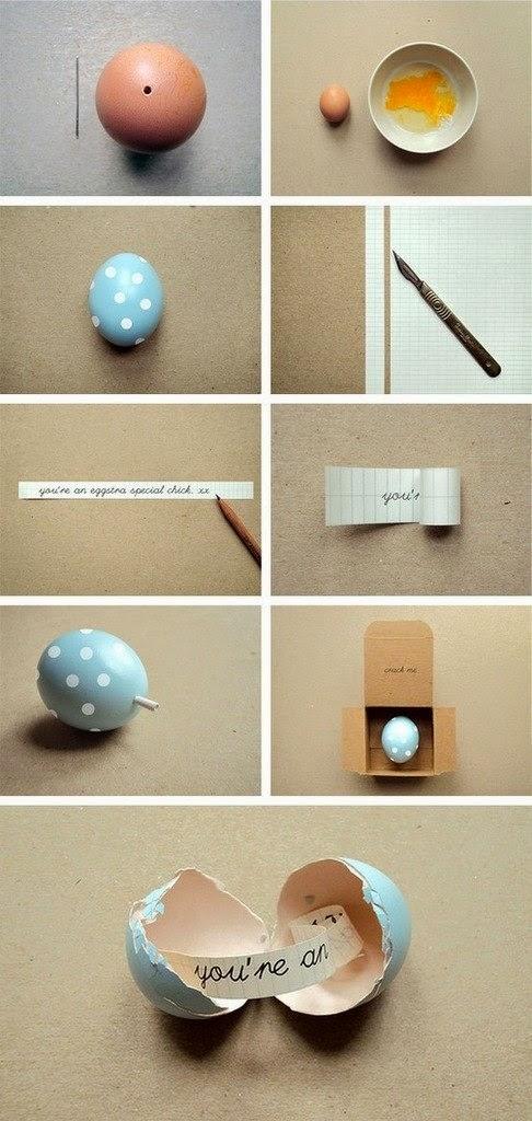 Huevos Decorados, Como Hacer una Sorpresa de Regalo