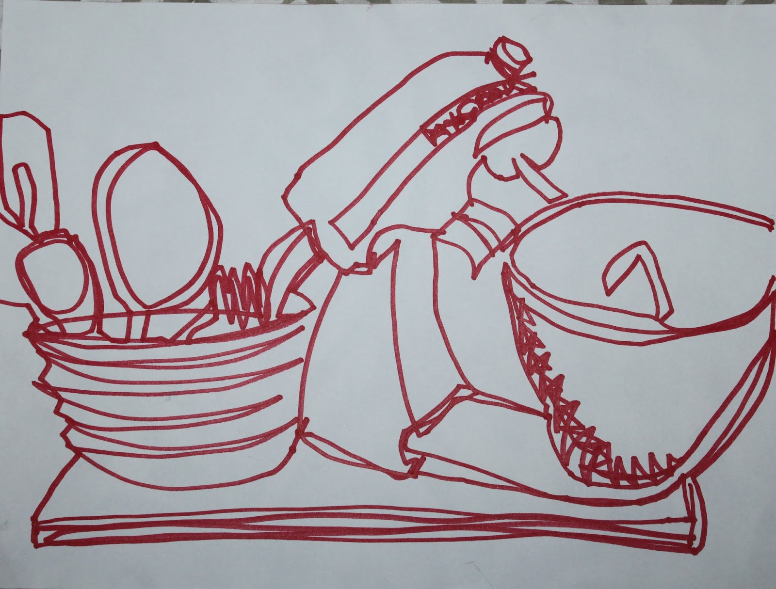 Continuous Contour Line Drawing Definition : Evan's drawing blog: september 2012