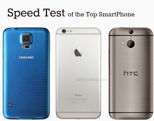 Speed Test iPhone 6 vs Galaxy S5 vs HTC One
