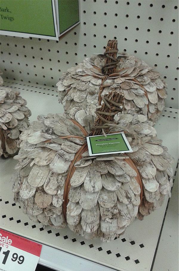Pumpkins available at Target