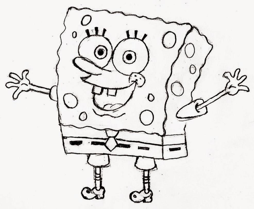 Spongebob da colorare for Disegni spongebob