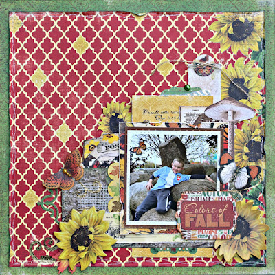 Colors of Fall featuring the Enchanted Harvest Collection by BoBunny designed by Rhonda Van Ginkel