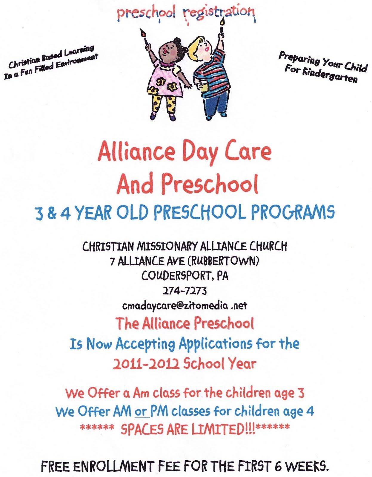 Solomon's Ads: Alliance Day CAre & Preschool Programs