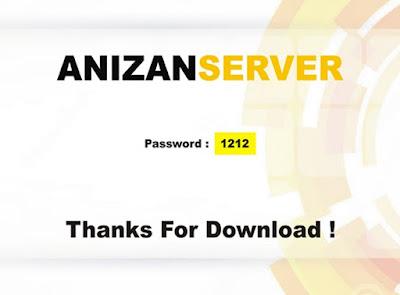 langkah 7 Memperoleh Password Anizan Server