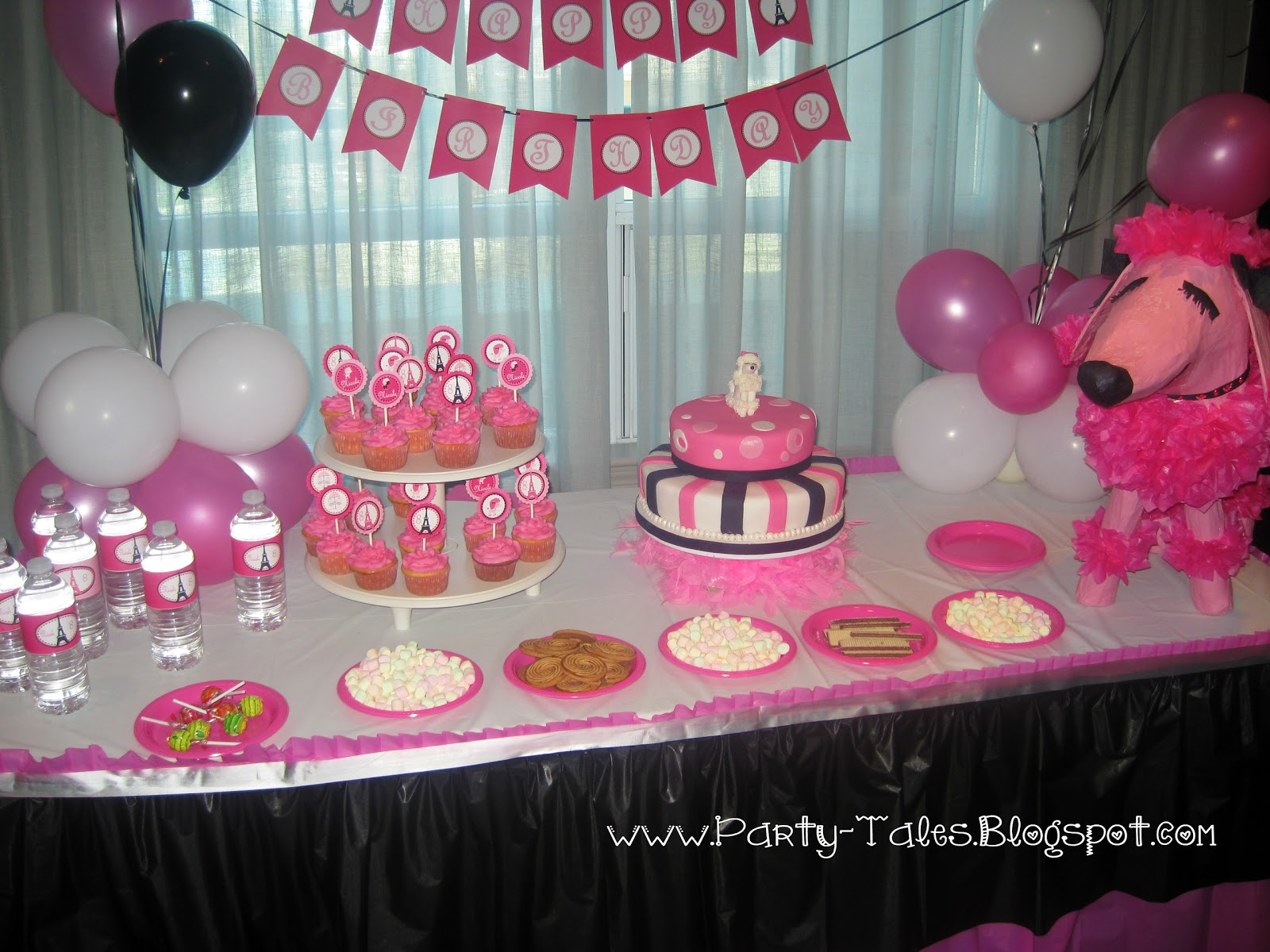 Paris themed birthday party ideas -  Paris Themed Birthday Party Via Kara S Party Ideas Karaspartyideas Poodle Eiffel Tower And Pink Poodles Everywhere Pink White And Black Was The Color