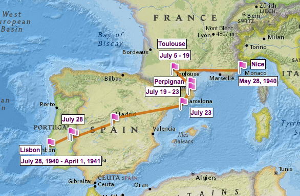 Image Gallery lisbon on world map